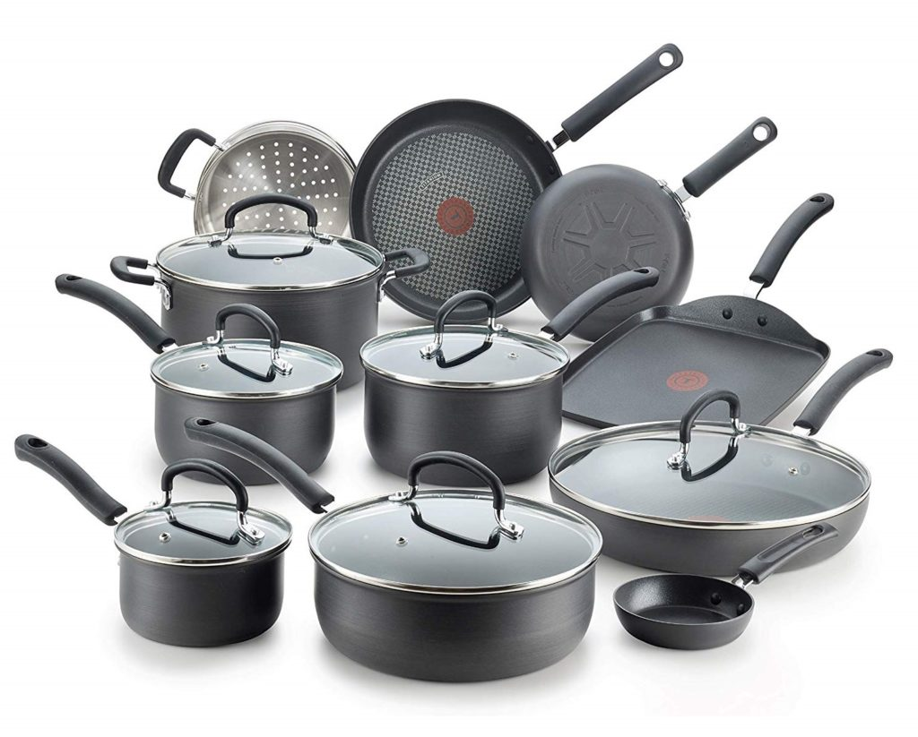 T-fal E765SH Ultimate Hard Anodized Nonstick 17 Piece Cookware Set