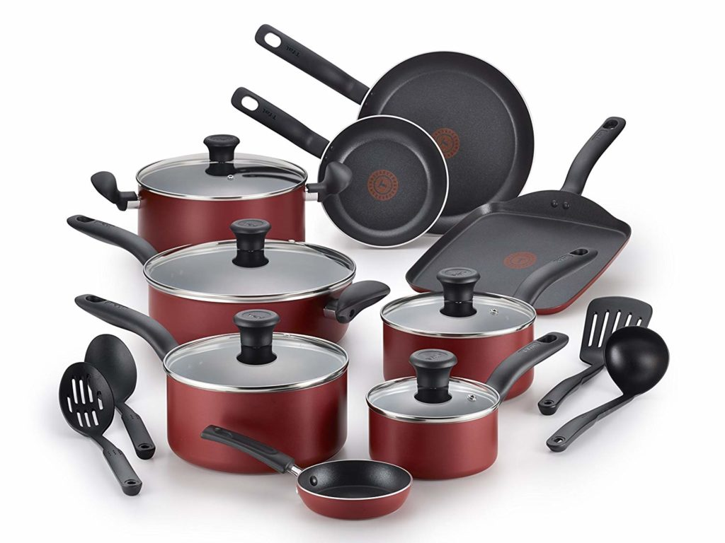 T-fal Initiatives Nonstick Cookware Set, 18-Piece