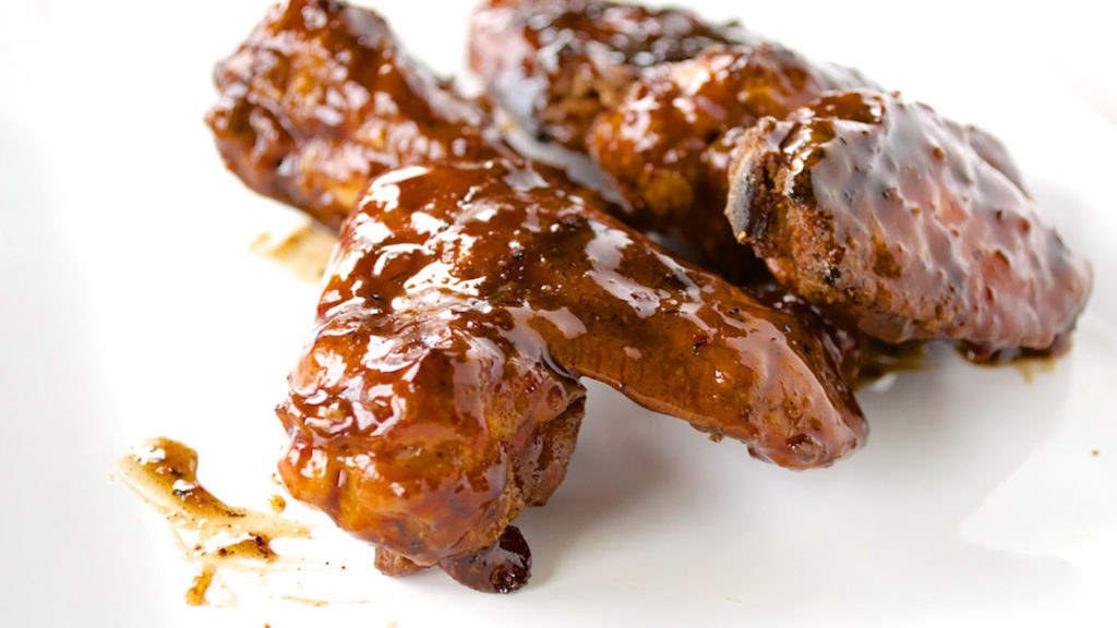 Baked Chicken Wings Apricot Glaze